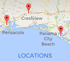 Find our orthopedic locations in Crestview, Panama City Beach and Pensacola Florida