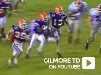 Interception by Michael Gilmore against Georgia 1994
